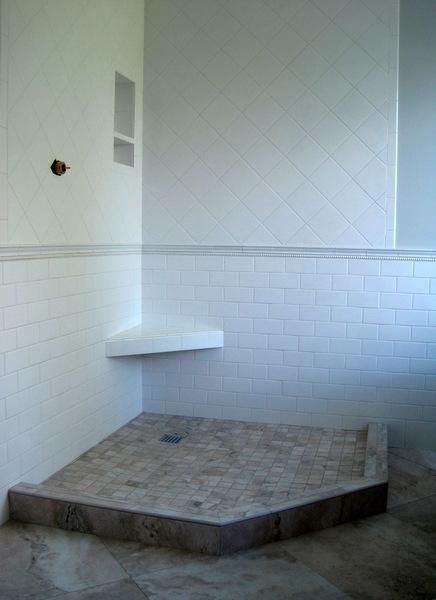 Week 9, floor tile grouted