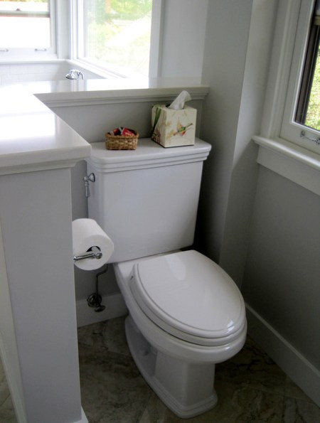 Week 12, toilet alcove with wall cap