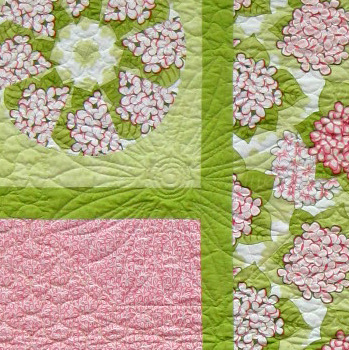 2013-11, Lyra's quilt, detail of quilting