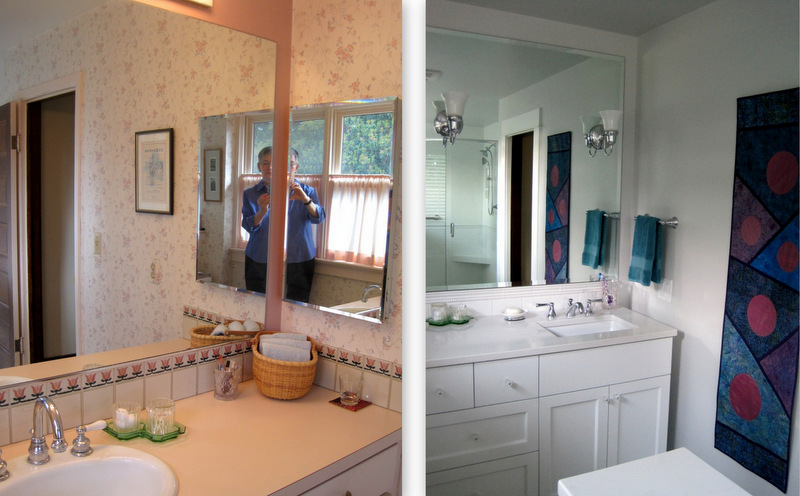 sw corner, before and after