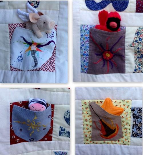 Susan's quilt pockets filled