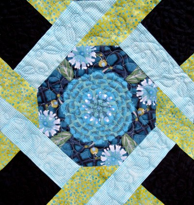 Olivia Twist, quilting detail on front