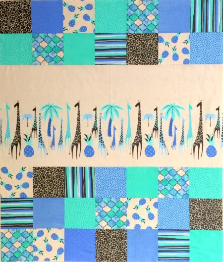 giraffe baby quilt top #1