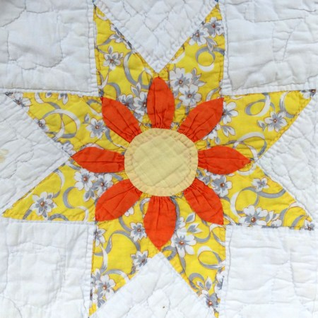 floral star block 7-001