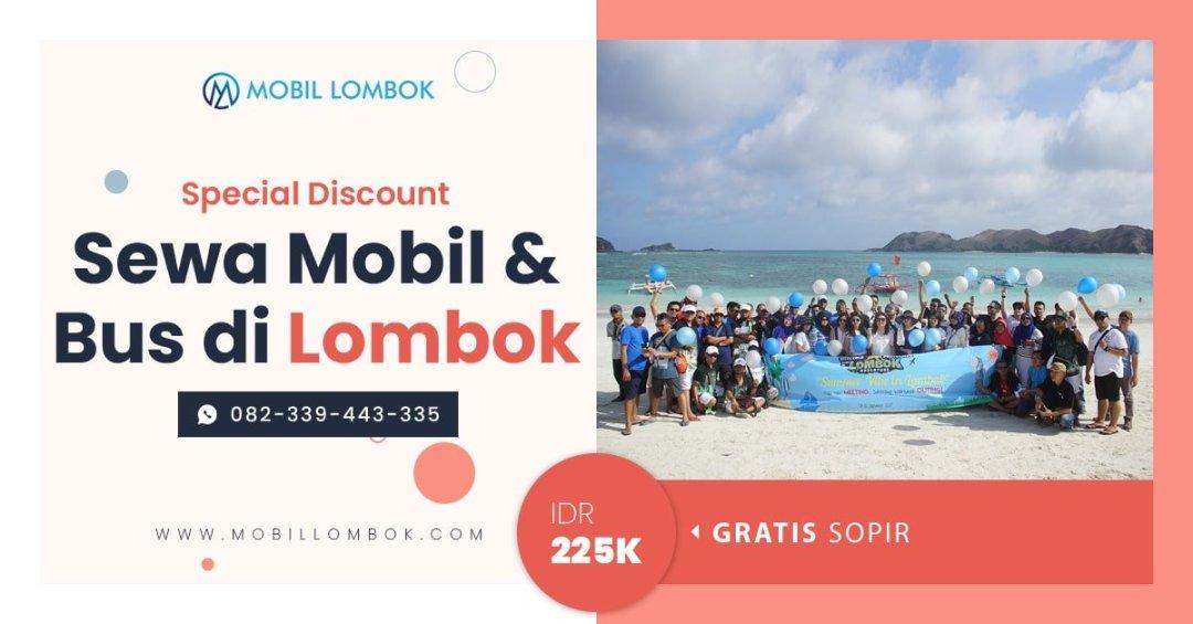 Promo sewa mobil lombok