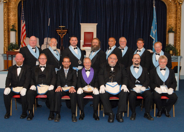 Officers from the 1st Masonic District