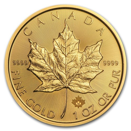 Buy Gold Maple Leaf Coin Reverse