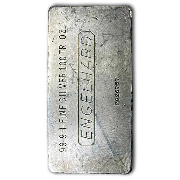 100 oz Englehard Silver Bar