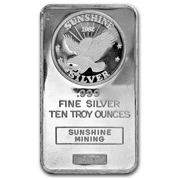 10 oz Silver Bar - Generic