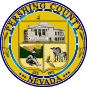 Burning Man Wedding Officiant, Pershing County Clerk Seal (Image)