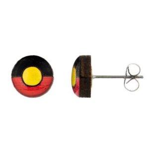 Aboriginal Flag - Earring Studs