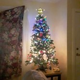 "Christmas tree and ""Indian"" curtain"