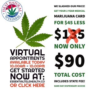 First Natural Special Limited Time Offer For Virtual Visits