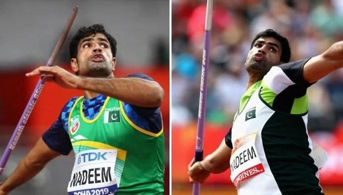 Arshad Nadeem throwing