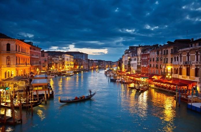 Venice, Italy - Grand canal runs