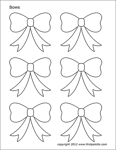 Bow Template Free : template, Printable, Templates, Coloring, Pages, FirstPalette.com