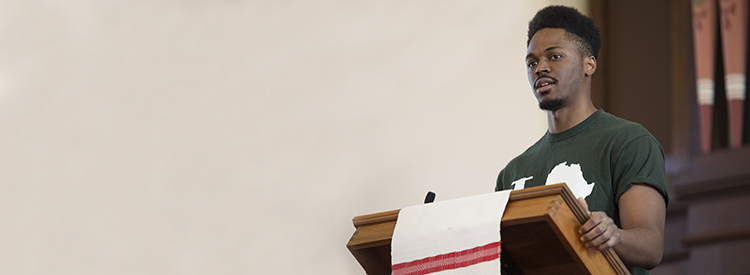 Guest speaker addresses First Parish from pulpit at Black Lives Matter service