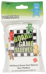 Board Game Sleeves (100) - MEDIUM