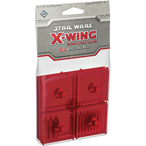 X-Wing Bases & Pegs (Red)
