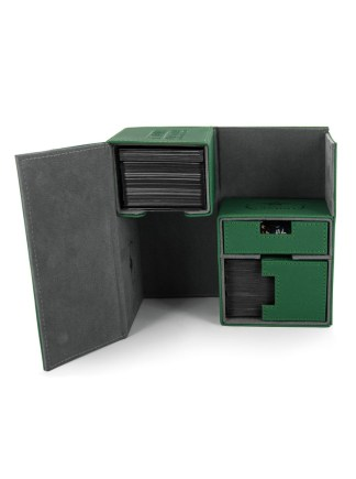 Ultimate Guard Twin Flip'n' Tray Deck Case 160+ Standard Size XenoSkin Green