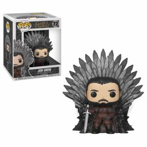Game of Thrones POP! Deluxe Vinyl Figure Jon Snow on Iron Throne 15 cm