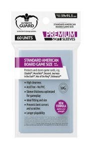 Ultimate Guard Premium Soft Sleeves for Board Game Cards Standard American (60)