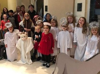 Children at a Christmas pageant