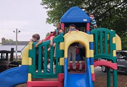Children on the FPC playground.