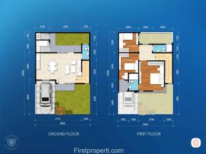 Cluster Amata tipe 116 - 96 floor plan