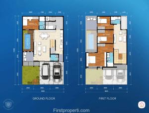 Cluster Amata tipe 150 - 135 floor plan