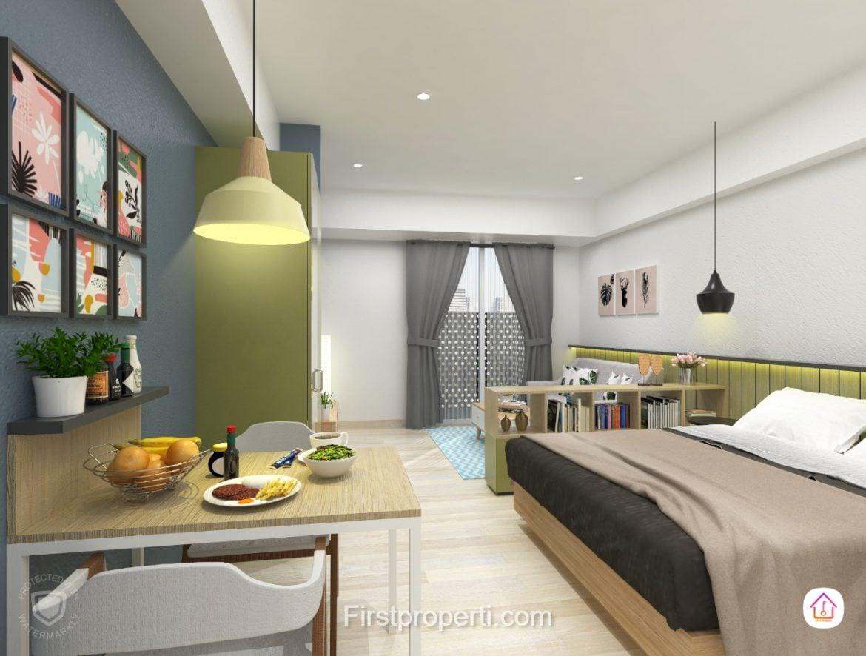 design terbaru apartemen west vista 1 BR Unit 2 apartemen west vista