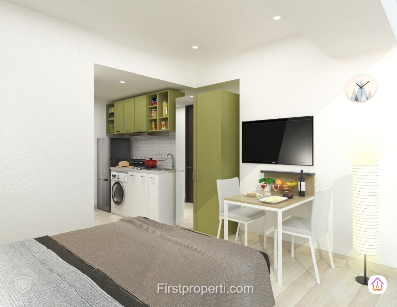 Studio Unit 2 apartemen west vista fully furnished scandinavian