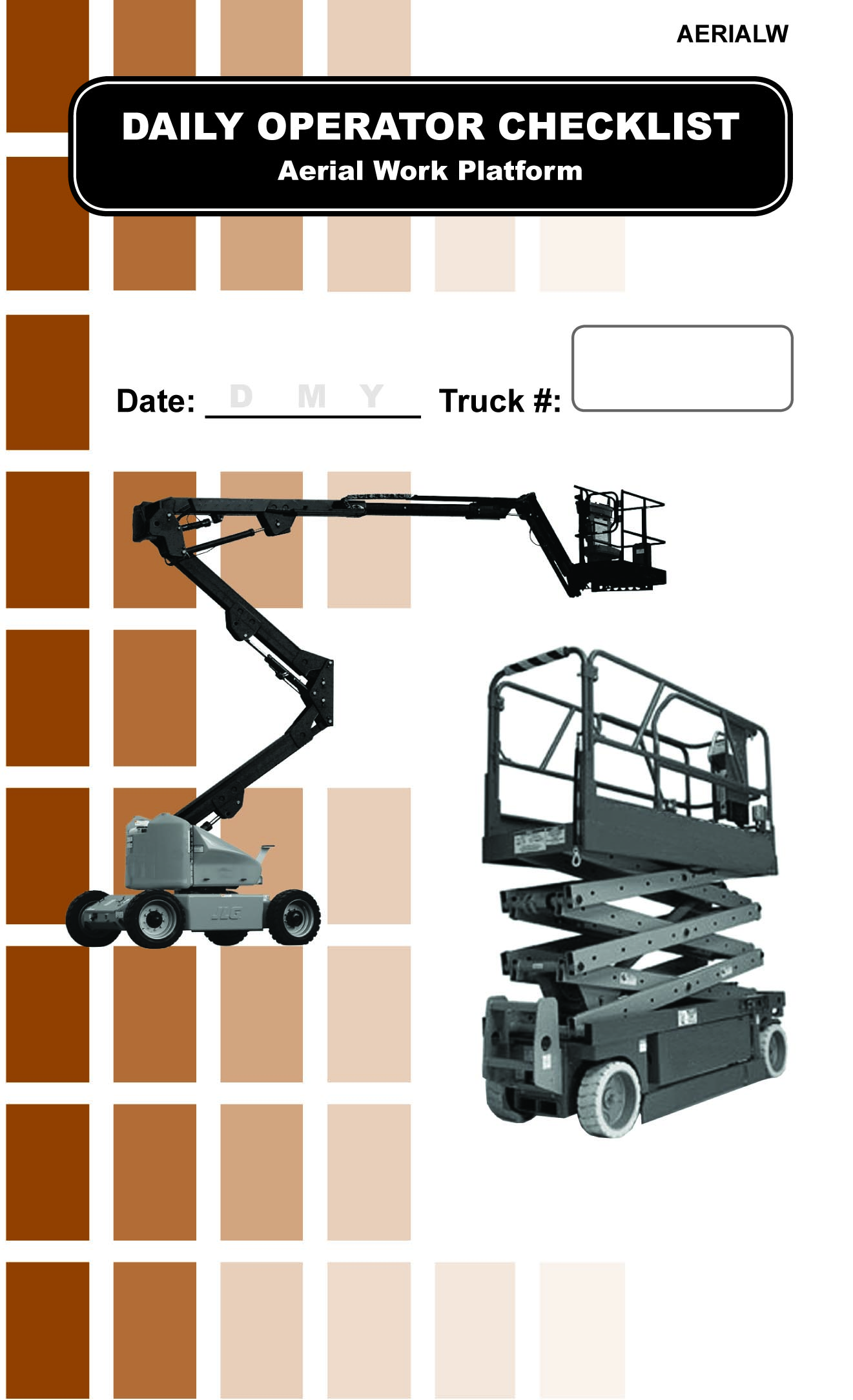 hight resolution of aerial lift daily checklist caddy