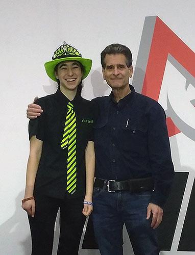 Dean's List Finalist Inez Khouider with Dean Kamen