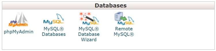 cPanel Databases
