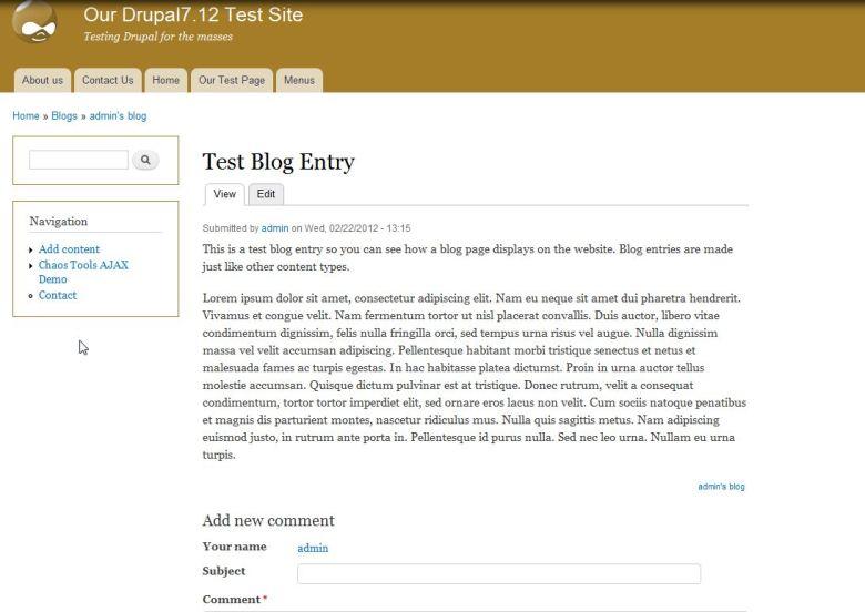 Drupal blogging module