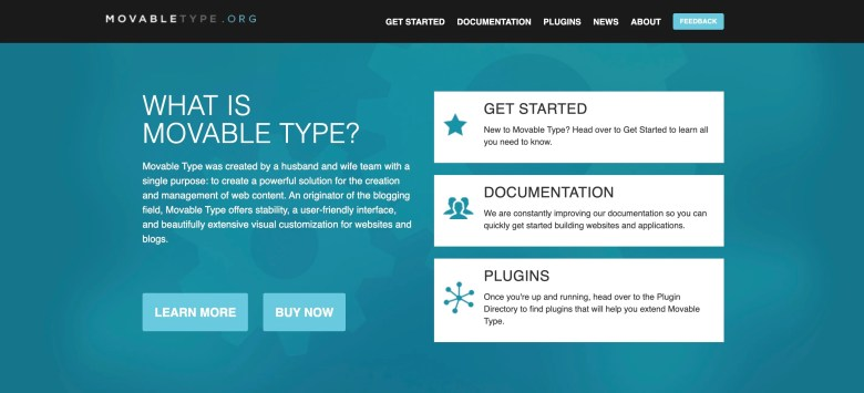home page di movabletype