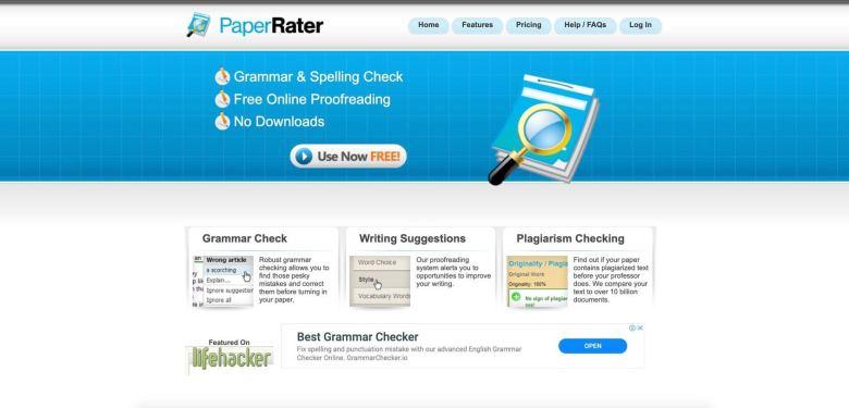 homepage dello strumento rater cartaceo