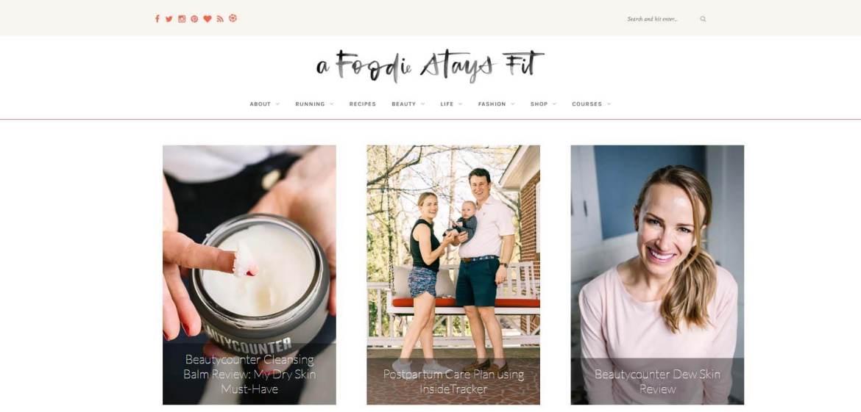 A Foodie Stays Fit Homepage
