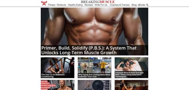 Breaking Muscle Homepage