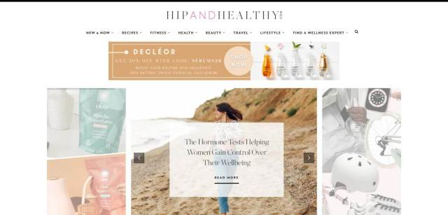 Hip and Healthy Homepage