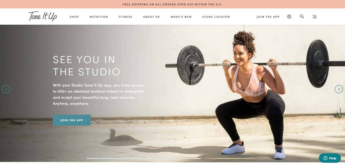 Tone It Up Homepage