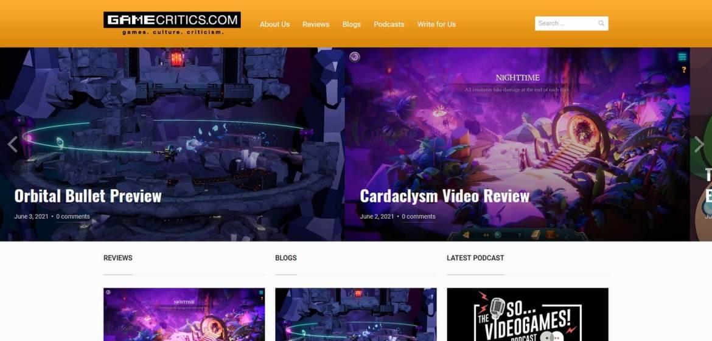 Game Critics Homepage