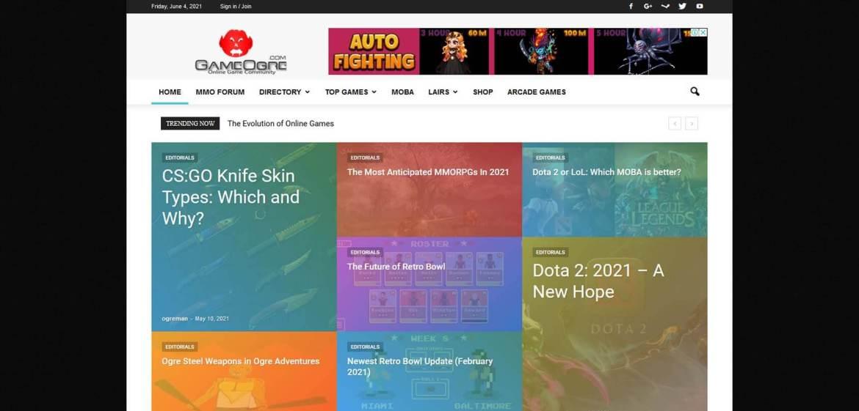 GameOgre Homepage
