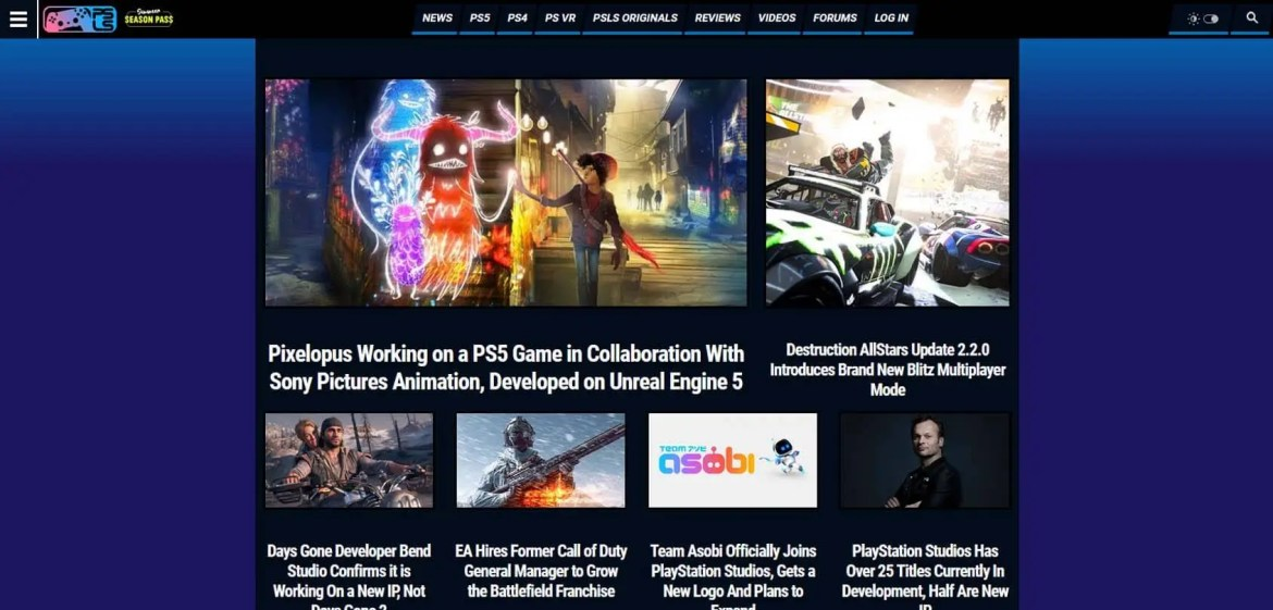 PlayStation Lifestyle Homepage