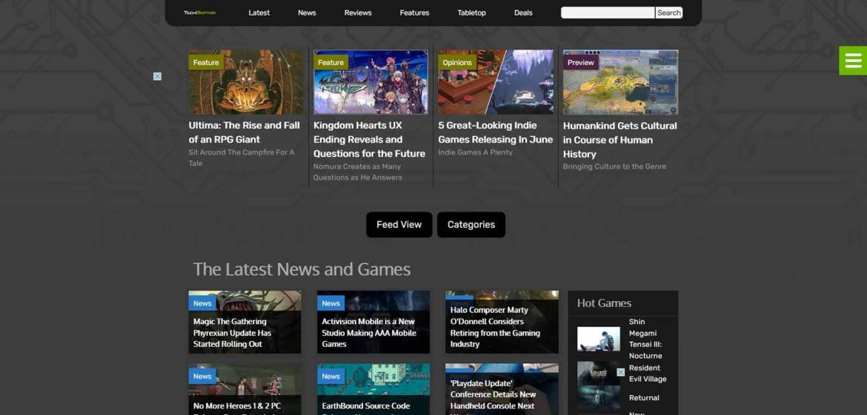 TechRaptor Homepage