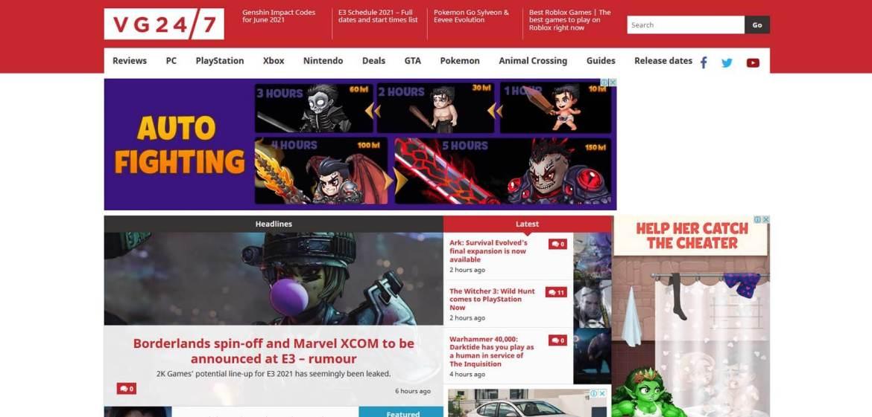 VG24/7 Homepage