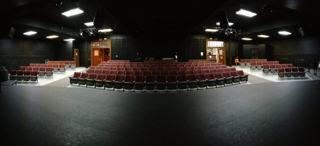 View from the stage of the Uptown Theatre in Mount Vernon, Iowa