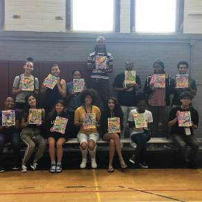 students with finished art
