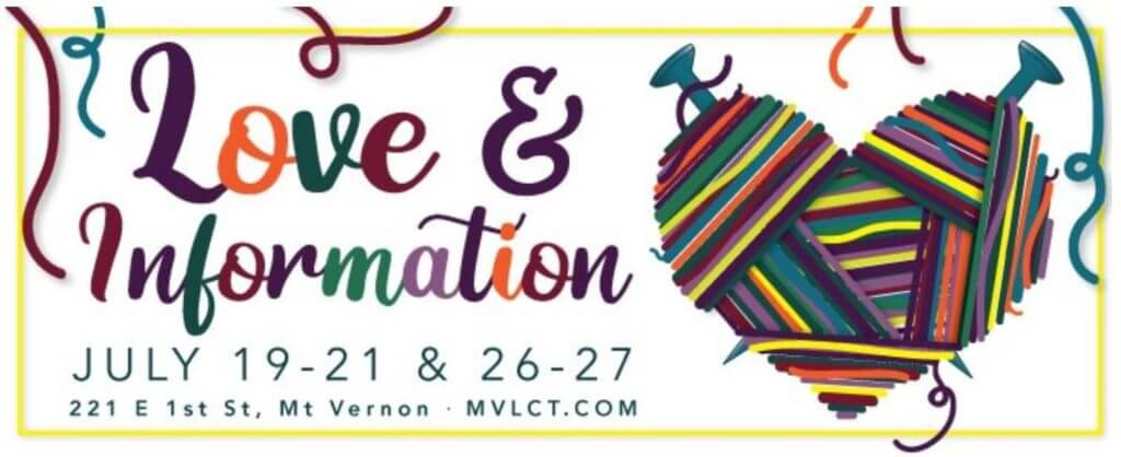 """Logo for the play """"Love and Information"""""""